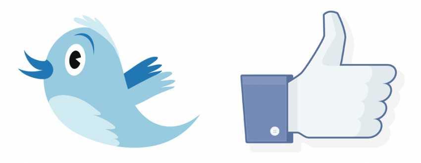 רשתות חברתיות טוויטר ופייסבוק